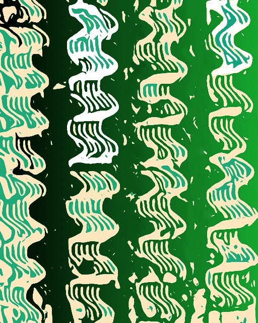 corrugated green block print gall best