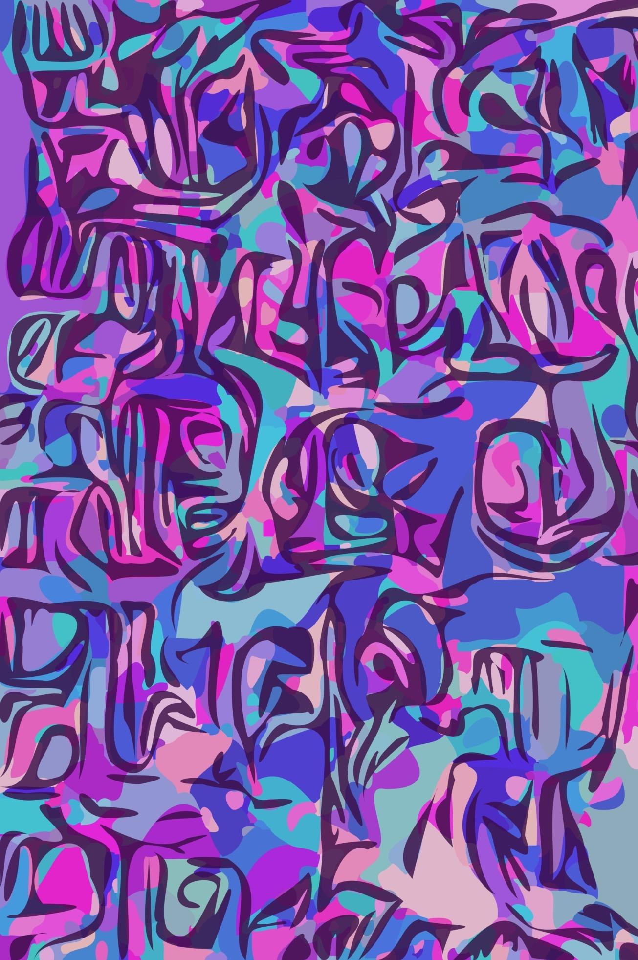 blue purple pink tiki gall